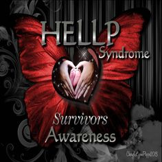 HELLP Syndrome Awareness Heart Butterfly