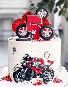 21st Birthday Cakes, Birthday Cakes For Women, Cakes For Boys, Bolo Motocross, Bolo Flash, Motor Cake, Chocolate Explosion Cake, Motorbike Cake, Cake Designs For Kids