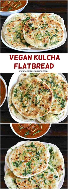Kulcha is a easy to make, soft and delicious Indian flat bread prepared using all purpose flour and cooked on cast-iron skillet. #vegan #vegetarian #feedfeed #buzzfeedfood #bread #baking #dinner #breakfast