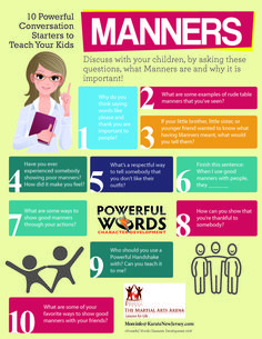 How To Talk To Your Children About #Manners