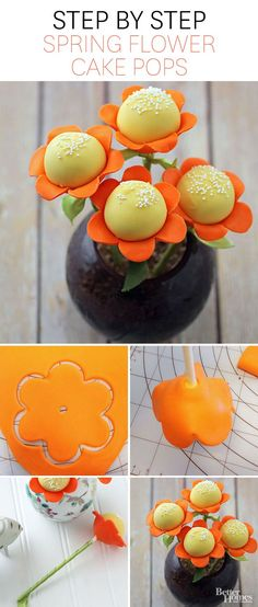 Everyone will love these easy to make Spring Flower Cake Pops