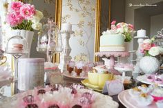 pink, green light for this shabby chic tea party
