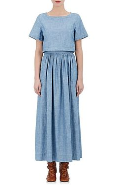 We Adore: The Cotton Chambray Maxi Dress from Chloé at Barneys New York