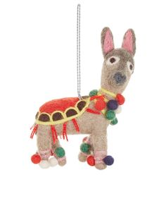 put a fun spin on the festive season with our fairtrade felt llama christmas decoration featuring a string attachment