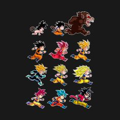 (Couple of other cool designs from artist!) Awesome 'The+evolutions+of+Goku' design on TeePublic!
