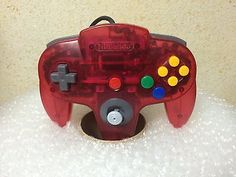 Nintendo 64 Controller Clear Red Japan N64
