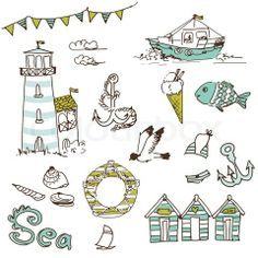 Stock vector of 'Sea doodles'