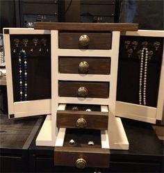 """9 Free DIY Jewelry Box Plans: Ana White's """"Fancy"""" Jewelry Box Plan"""