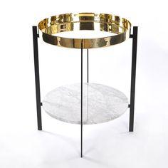 Deck Sivupöytä, Valkoinen Marmori/Messinki, OX Denmarq
