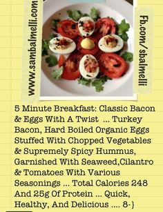 5 Minute Breakfast: Classic Bacon & Eggs With A Twist ...Quick, Healthy, And Delicious .... 8-}