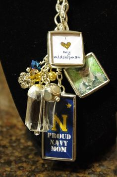 Naval Academy Charm Necklace. $58.00, via Etsy.
