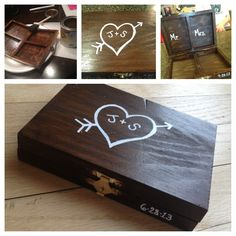 DIY ring bearer box....it could be used it as a storage box