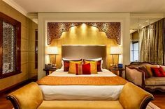 Indian Home Decor Designs Cool Relaxing Modern Bedroom Design Decorating Ideas With Indian Style 26 Indian Bedroom Design, Modern Bedroom Design, Master Bedroom Design, Contemporary Bedroom, Bed Design, Bedroom Designs, Contemporary Furniture, Bedroom Furniture, Bedroom Decor