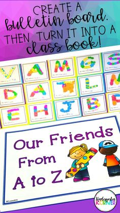 CLASS BOOKS...Why you NEED to create class books in kindergarten...Read more about how to turn bulletin board writing pieces into class books that your kids can enjoy all year long!  Creating class books is one of my kids favorite writing activities...#classbooks #kindergartenwriting #workonwriting #classroomlibrary #kindergarten #kindergartenteacher