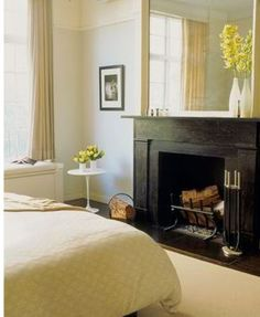 Bedroom fireplace!