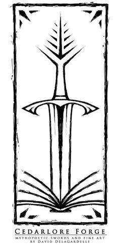 Cedarlore Forge Logo Art Print by David DelaGardelle   Society6
