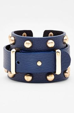 Cara Wide Leather Bracelet available at #Nordstrom