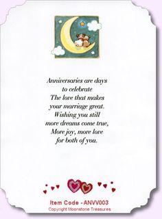 Wedding Anniversary Verse - ANNV003