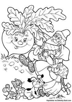 Színezés Repka - For Óvoda Coloring For Kids, Coloring Pages For Kids, Coloring Sheets, Adult Coloring, Coloring Books, Art Drawings For Kids, Art For Kids, Crafts For Kids, Kindergarten Activities