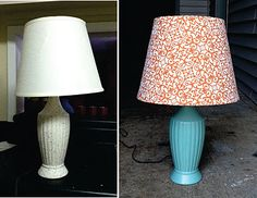 DIY Project: Goodwill Lamp Makeover that Victoria and I did last night...turned out great!