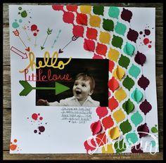 Artisan Wednesday Wild Card- Hello Little Love, from Pink Buckaroo Design.  Love the rainbow!