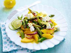 Frühlingssalate - kunterbunt und richtig lecker - spargel-mango-salat  Rezept