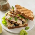 Grilled Chicken Mojito Sandwich! Delicious! I've never tried the bread though I made it in a Low fat Flatout brand wrap