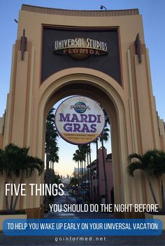 Five things you should do the night before to help you wake up early on your Universal theme park vacation.
