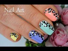 Leopard Nail Art / Дизайн ногтей / Леопардовый принт