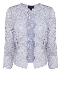 Elevate your separates collection with the stunning Izzy Lace Jacket. Crafted from romantic lace, this jacket evokes a beautifully vintage aesthetic. Featuring three quarter length sleeves and a hook fastening, this jacket offers gorgeous coverage. Team with your best dress for a chic evening look.