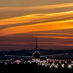 Night Flight - Krakow Airport -photo taken by Maciej Kwarciany