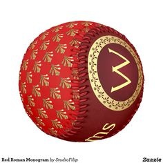 Red Roman Monogram Baseball | 15% OFF with coupon code KICKOFFZYEAR | Offer is valid through January 10, 2016 11:59PM PT.