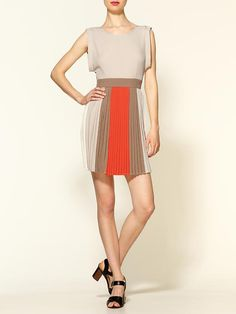 Piperlime | Color Block Pleated Mini Dress
