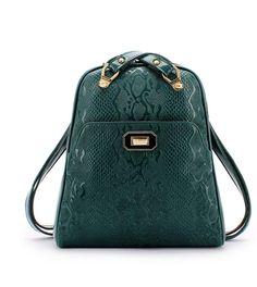 Animal Pattern Calfskin Fashion Backpacks for Women