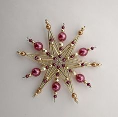 Beaded Snowflake Ornament Idea