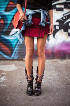 chained heels to add a funky twist