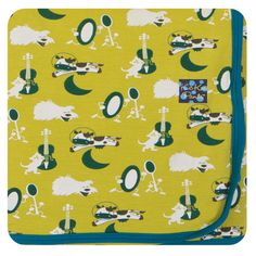 Kickee Pants Newborn Swaddling Blanket, Boys, Citronella Hey Diddle Diddle, One Size