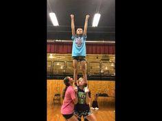 All Girl One Man Cheerleading Stunt - YouTube