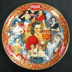 """4th Coca-Cola/Franklin Mint Porcelain China Plate """"Thirties Beauties"""" 1998"""