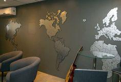 escritorio mapa mundi moderno prata