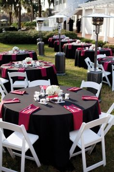 Table setting. Looks great with the white chairs