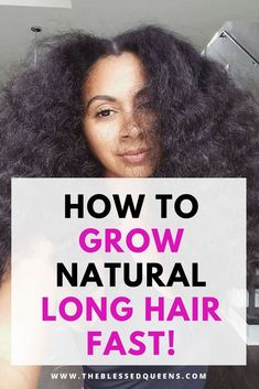 - The Blessed Queens Tips on how to grow natural hair faster. This tips is mostly for african American hair or black hair in general! This post contains Helpful remedies that can help you grow your natural hair Long! Grow Natural Hair Faster, Longer Hair Faster, How To Grow Your Hair Faster, Long Natural Hair, Natural Hair Growth, Natural Curls, Au Natural, Natural Skin, Natural Hair Tips