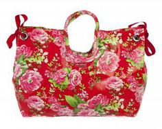 Beach Bag - Large - China Rose Red China Rose, Large Bags, Red Roses, Beach, The Beach, Beaches