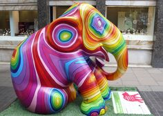 This just makes me smile!!  Elephant on Old Bond St. in London