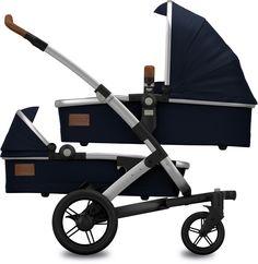 Joolz Geo Earth Parrot Blue Twin Zwillingskinderwagen Set M - Joolz Geo Twin - Geschwister-/ Zwillingswagen - Kinderwagen - Baby
