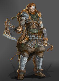 [ART] My first commissioned character | Hvitser, Human Battlemaster : DnD