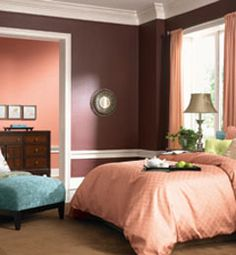 Bold Boudoir from The Nest: Image courtesy of Olympic Paint, www.olympic.com