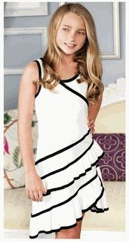 Next Previous Sara Sara Ivory w/Black Binding Ruffle Hem Tween Dress Pre-Order For my baby Dresses For Tweens, Outfits For Teens, Girls Dresses, Cute Outfits, Tween Fashion, Fashion 101, Fashion Outfits, Fashion Clothes, Bat Mitzvah Dresses