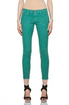 Current/Elliott Polka Dot Pant in Ultra Marine, $185, available at Forward by Elyse Walker.