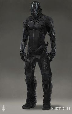 Sleek black body armour credit to whoever drew this